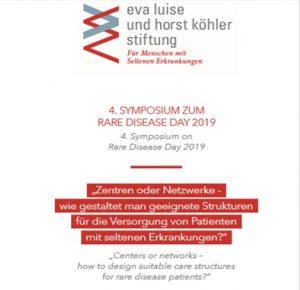 4. Symposium zum Rare Disease Day 2019, eva luise und horst köhler stiftung für Menschen mit seltenen Erkrankungen